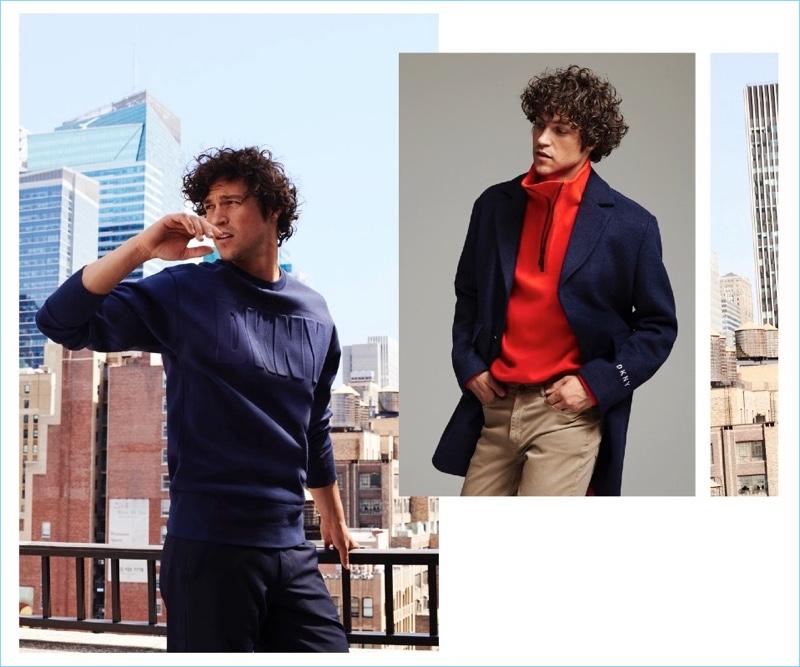 Miles McMillan stars in DKNY's fall-winter 2018 lookbook.