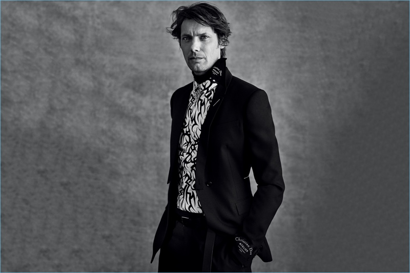 James Rousseau fronts Dior Men's fall-winter 2018 campaign.