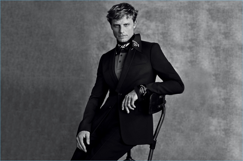 Arnaud Lemaire appears in Dior Men's fall-winter 2018 campaign.