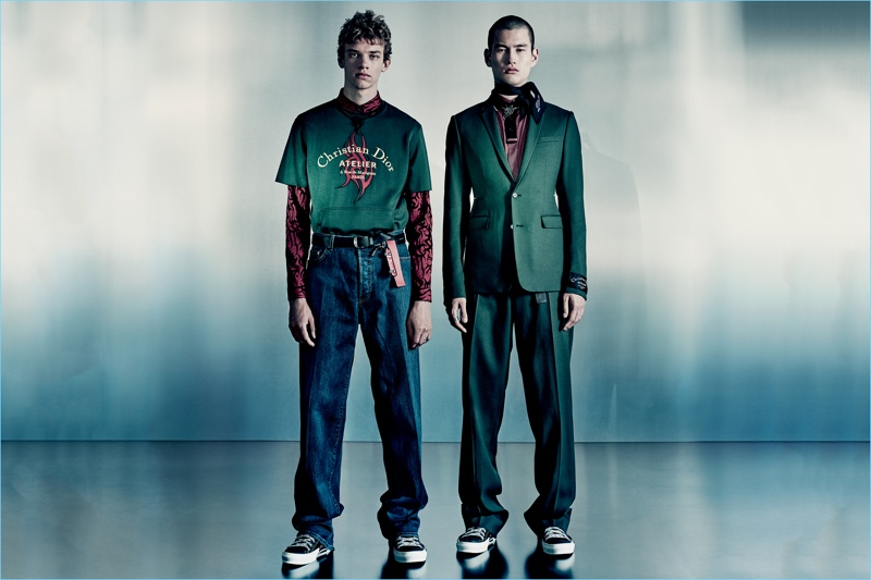 Nolan Cottereau and Kohei Takabatake star in Dior Men's fall-winter 2018 campaign.