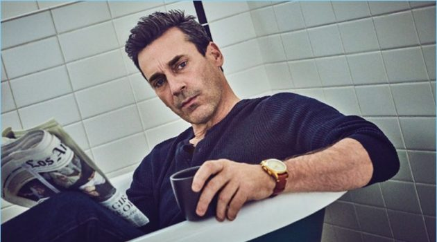 Starring in a feature, Jon Hamm connects with August Man.