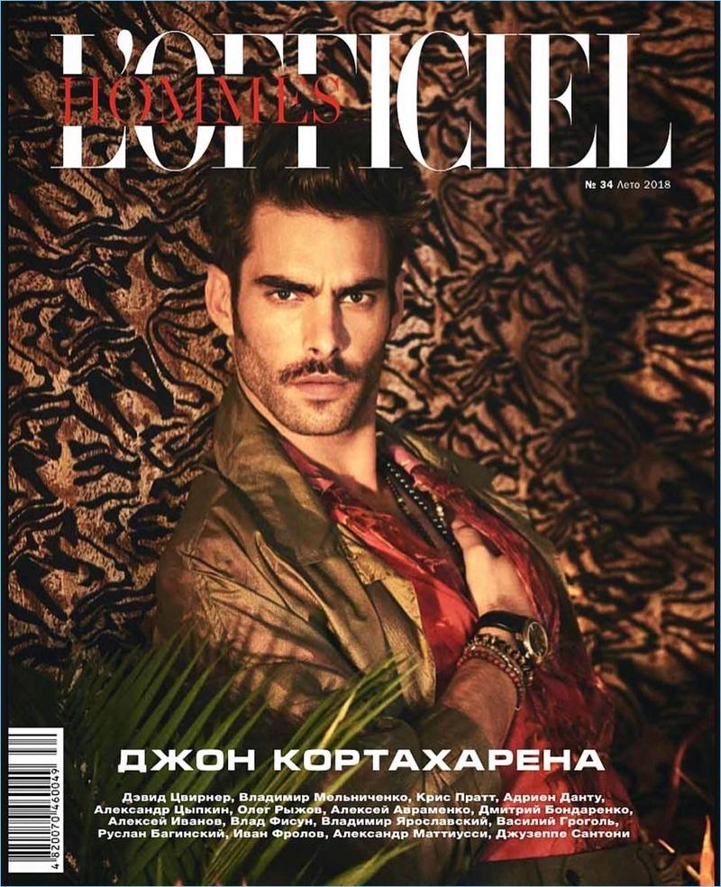 Jon Kortajarena Models Rich Wardrobe for L'Officiel Hommes Ukraine