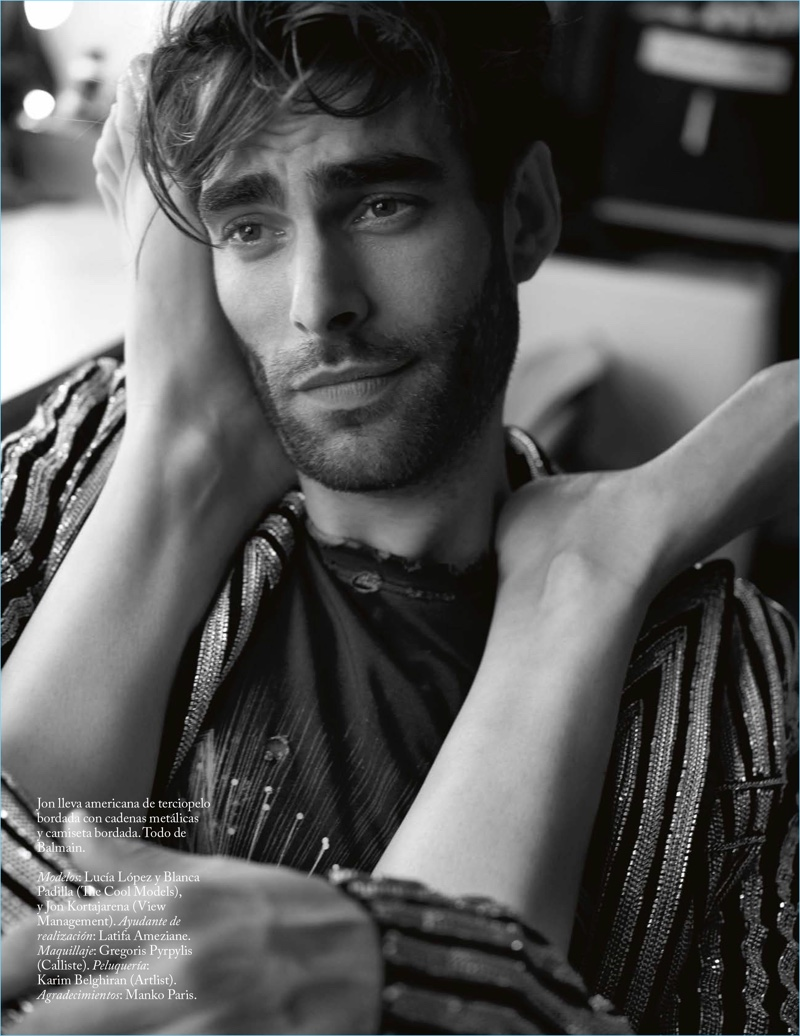 Jon Kortajarena graces the pages of Vogue Spain.