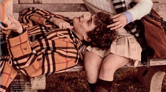 Check Mates: Newcomer Kennan Joins Ansley Gulielmi for Vogue Japan