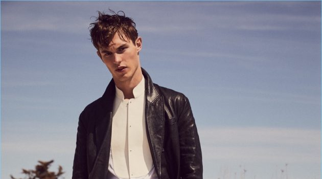 Kit Butler Dons Leather & Neutrals for Glass Men