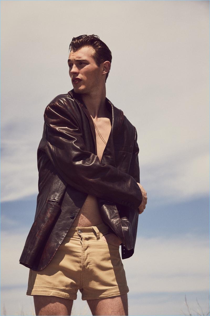 Kit Butler Dons Leather & Neutrals for Glass Men