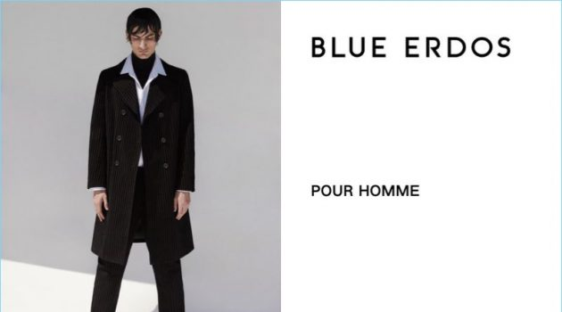 Luca Lemaire Sports Wet Hair Look for Blue Erdos Pour Homme