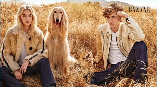 Double Trouble: Lucky Blue Smith & Sister Pyper America for Harper's Bazaar Singapore