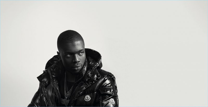 Rapper Sheck Wes for Moncler BEYOND campaign.