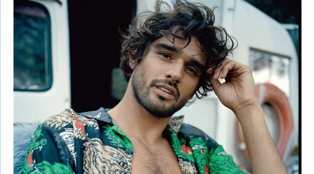 Marlon Teixeira stars in an editorial for the latest issue of GQ Australia.