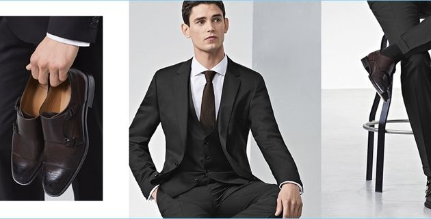 Hugo Boss Shows How to Match Suit & Shoe Colors
