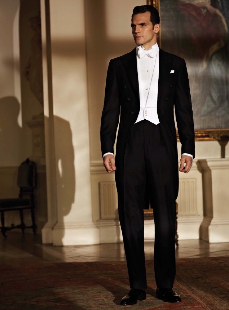 Ede & Ravenscroft presents a classic white tie look.