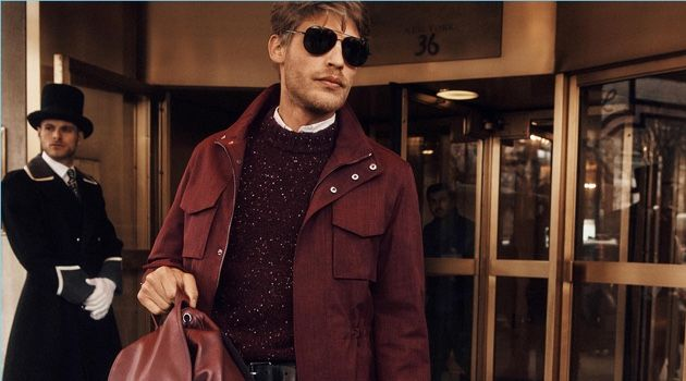 Baptiste Radufe stars in Michael Kors' fall-winter 2018 campaign.