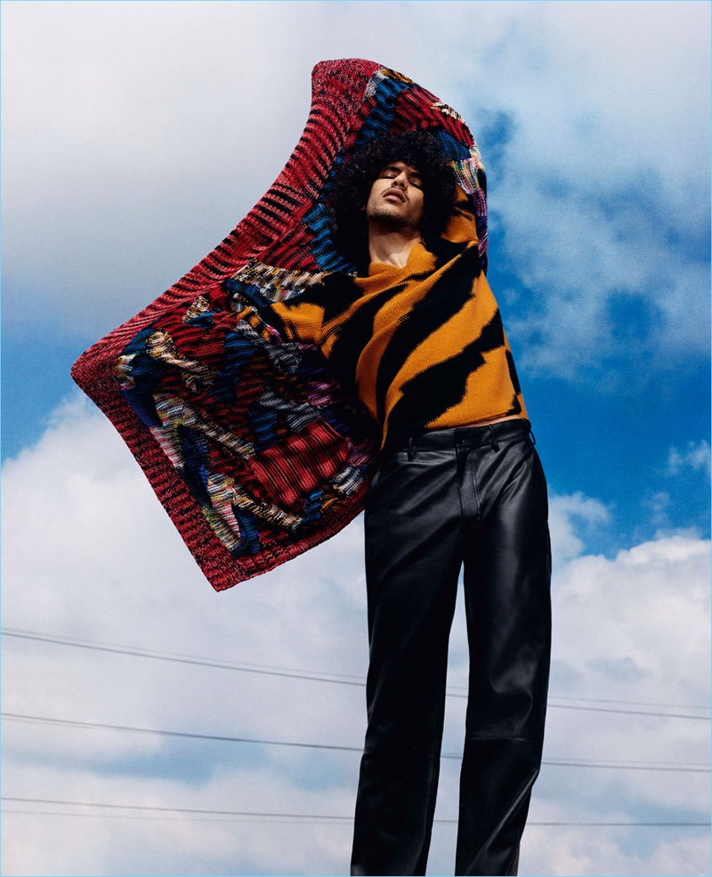 Harley Weir photographs Yassine Rahal for Missoni's fall-winter 2018 campaign.
