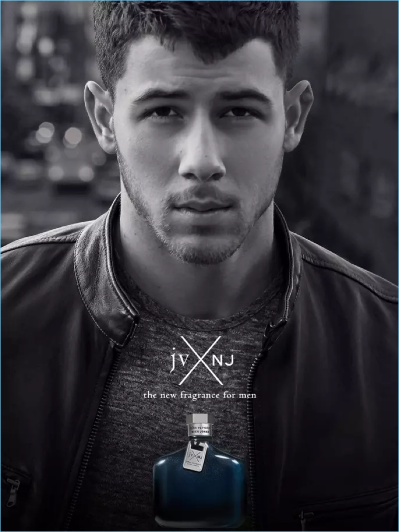 Nick Jonas fronts a campaign for his new John Varvatos fragrance.