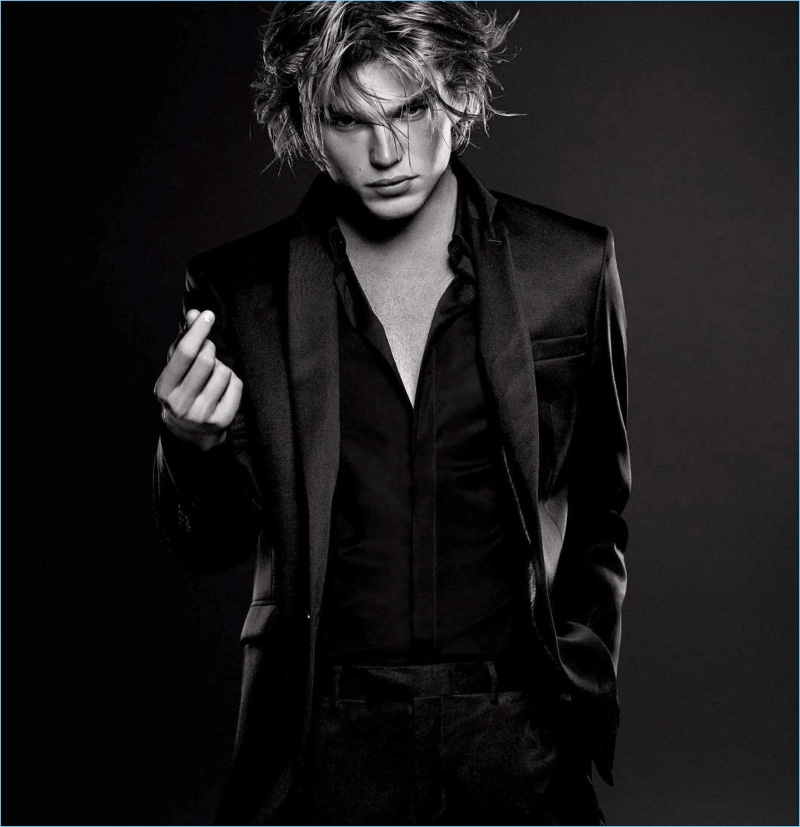 Jordan Barrett fronts Paco Rabanne's Million Lucky fragrance campaign.