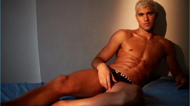 Pietro Baltazar poses in Emporio Armani underwear for Iris Covet Book.