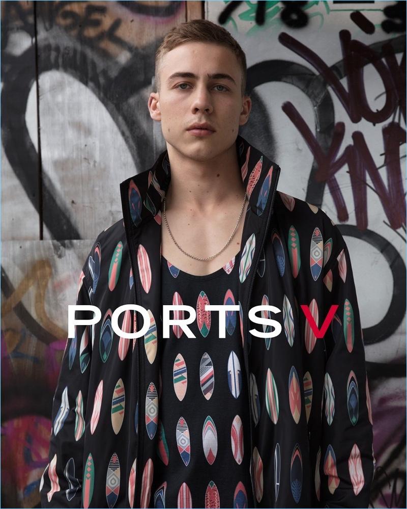 Sholto Price stars in Ports V's debut campaign.