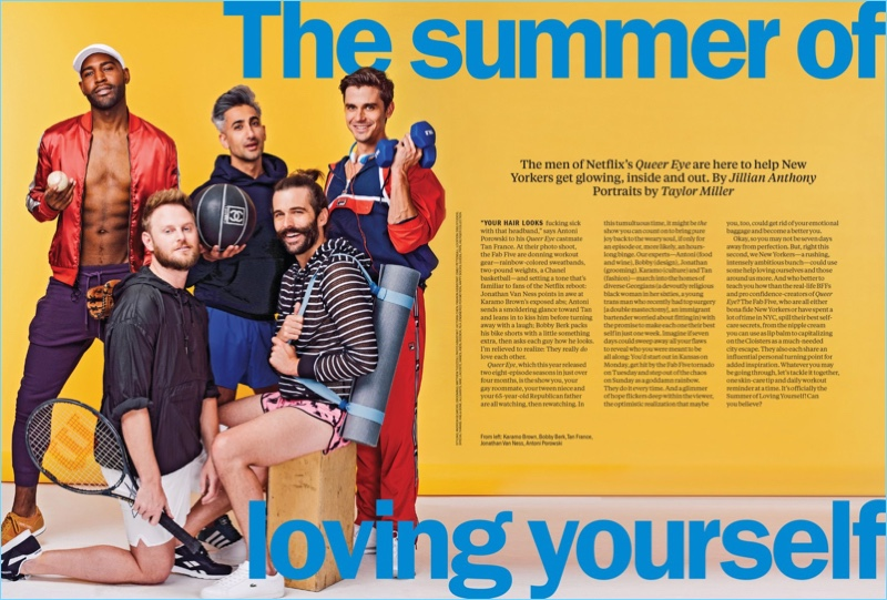 Time Out New York connects with the cast of Queer Eye for its latest issue.
