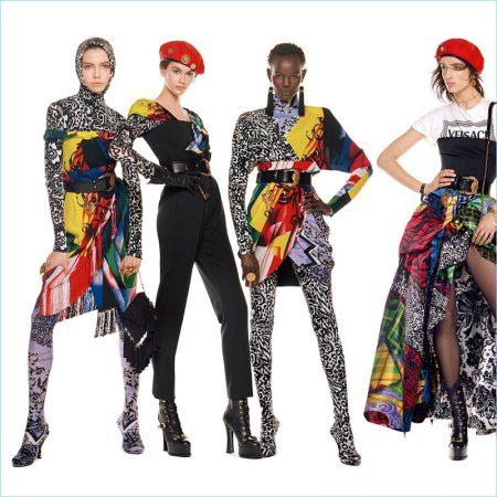 versace   fall 2018   campaign   steven meisel   models