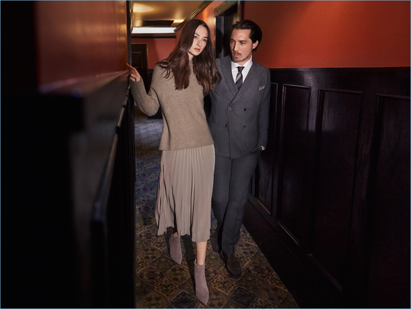 Bruna Tenório and Guillaume Macé appear in Windsor's fall-winter 2018 campaign.