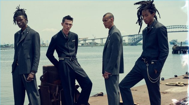 Abdulaye Niang, Willow Barrett, Simon Bornhall, and Kendall Harrison star in Zara Man's fall-winter 2018 campaign.