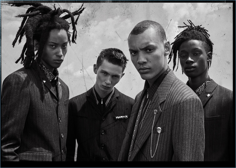 Kendall Harrison, Willow Barrett, Simon Bornhall, and Abdulaye Niang front Zara Man's fall-winter 2018 campaign.