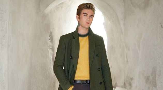 Gabriel-Kane Day-Lewis dons a fall-winter 2018 look from BOSS.