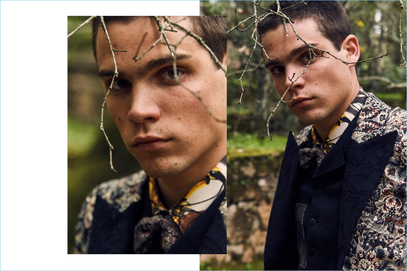 Federico Spinas stars in Antonio Marras' fall-winter 2018 campaign.