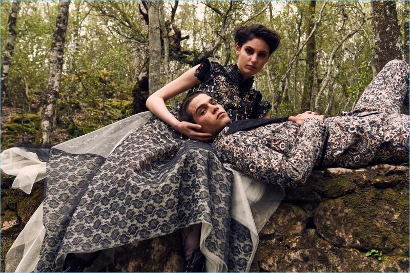 Talia Ferralis and Federico Spinas come together for Antonio Marras' fall-winter 2018 campaign.