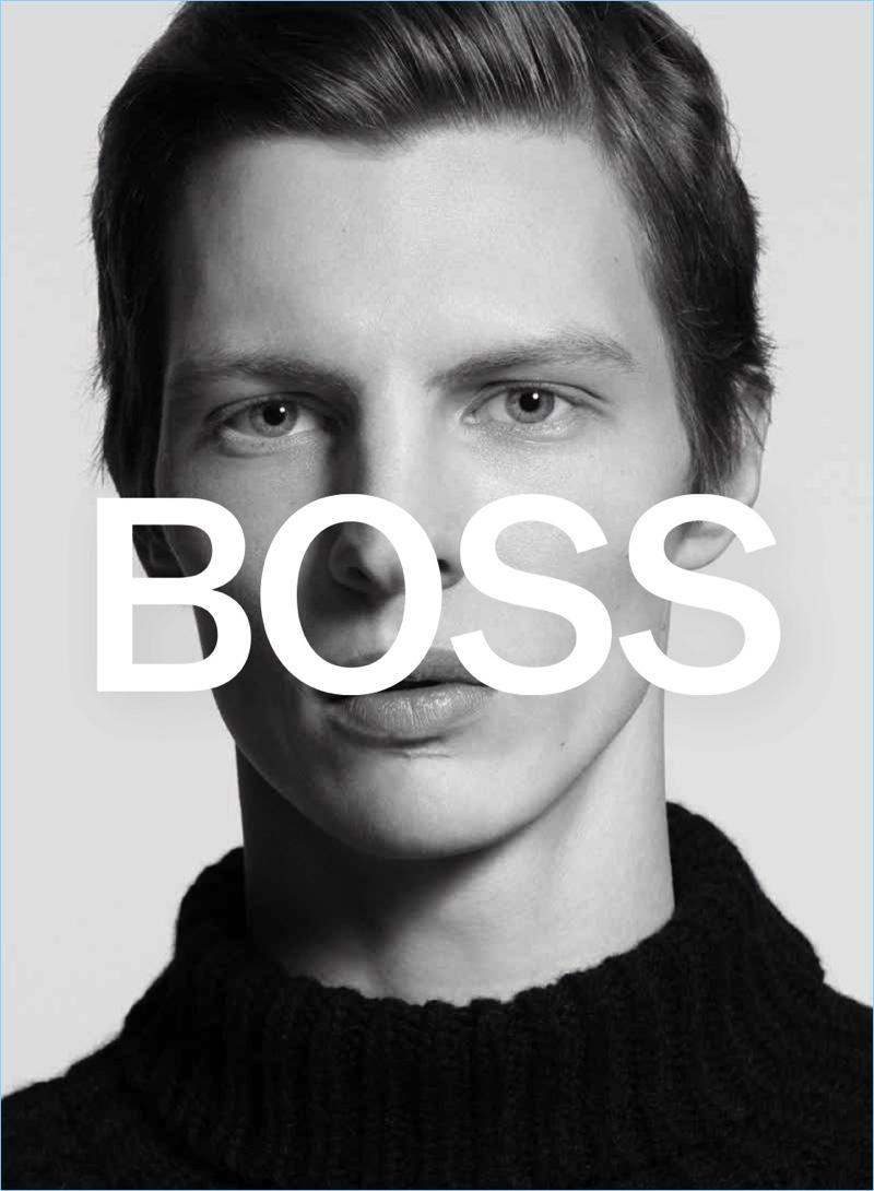 German model Tim Schuhmacher stars in BOSS' fall-winter 2018 campaign.