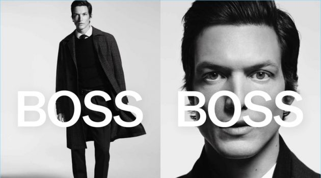 Michael Gandolfi appears in BOSS' fall-winter 2018 campaign.