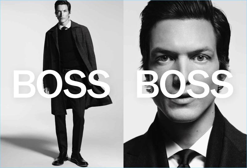 Michael Gandolfi appears in BOSS' fall-winter 2018 campaign.