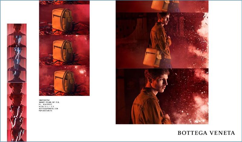 Tim Schuhmacher stars in Bottega Veneta's fall-winter 2018 campaign.