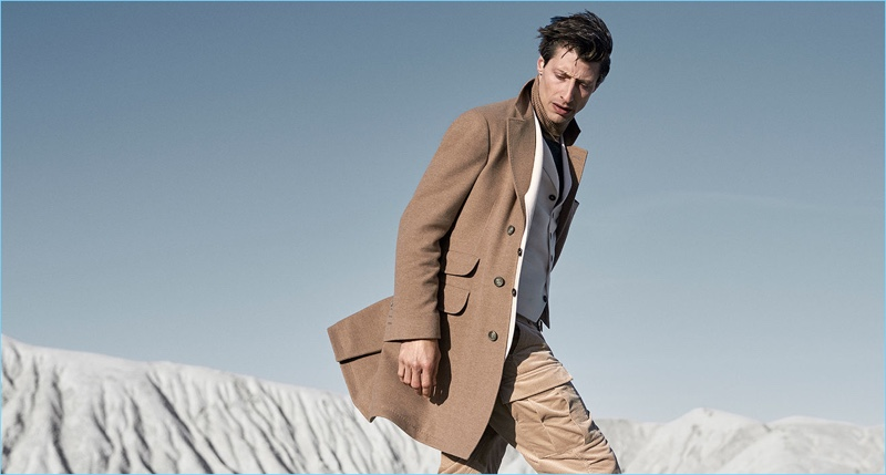 Jonas Mason reunites with Brunello Cucinelli for its fall-winter 2018 outing.