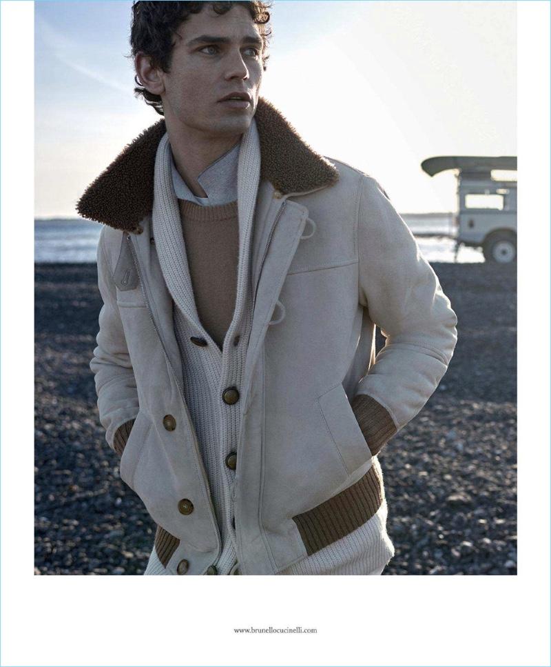 Arthur Gosse stars in Brunello Cucinelli's fall-winter 2018 campaign.