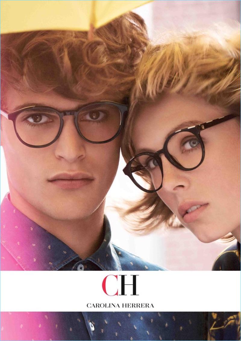 Parker van Noord and Edie Campbell star in CH Carolina Herrera's fall-winter 2018 eyewear campaign.