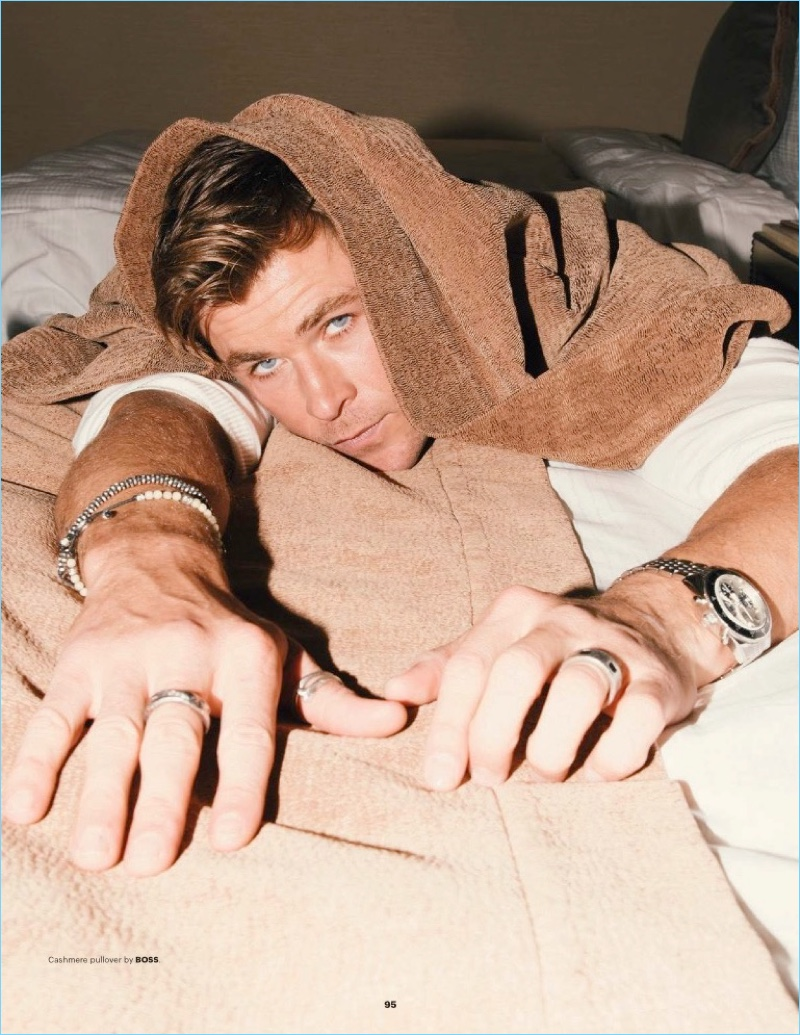 Zhong Lin photographs Chris Hemsworth for the pages of Esquire Singapore.