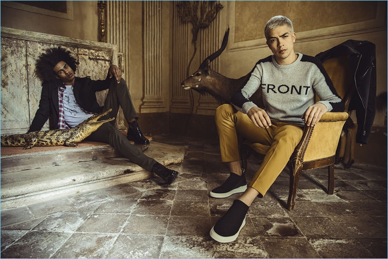 David Naman enlists Yorgary Martinez and Iago Faria as the stars of its fall-winter 2018 campaign.