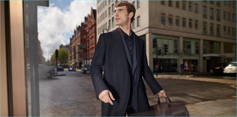 Clément Chabernaud stars in Dunhill's fall-winter 2018 campaign.