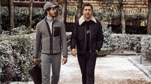 Dev Patel and Javier Bardem star in Ermenegildo Zegna's fall-winter 2018 campaign.