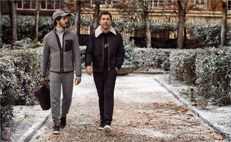 Dev Patel and Javier Bardem star in Ermenegildo Zegna s fall-winter 2018  campaign. 2f8feff219b