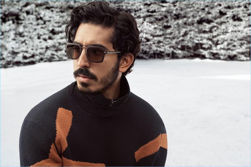 Actor Dev Patel rocks sunglasses for Ermenegildo Zegna's fall-winter 2018 campaign.