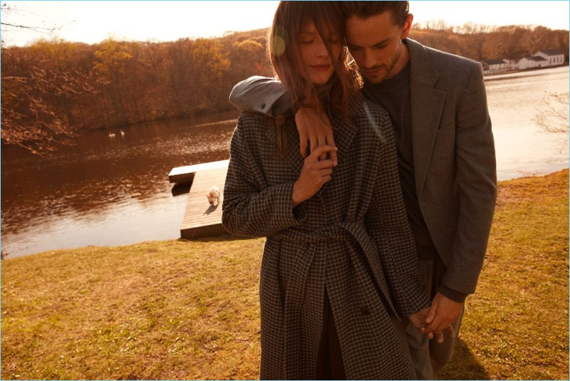 Models Sara Blomqvist and Jeremy Young star in Filippa K's fall-winter 2018 campaign.