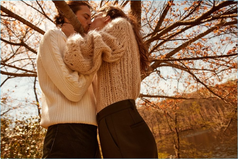 Camilla Åkrans photographs Jeremy Young and Sara Blomqvist for Filippa K's fall-winter 2018 campaign.