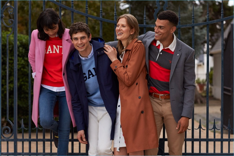 Models Arthur Gosse and Quinten A. appear in Gant's fall-winter 2018 campaign.
