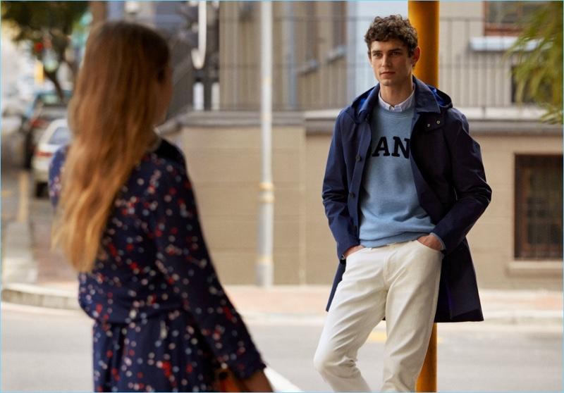 Arthur Gosse stars in Gant's fall-winter 2018 campaign.