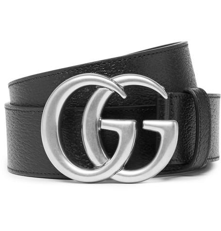 Gucci , 4cm Full,Grain Leather Belt , Black