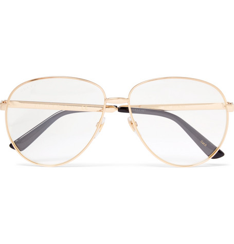 1cc27f8c9 Gucci – Aviator-Style Gold-Tone and Enamel Optical Glasses – Men ...