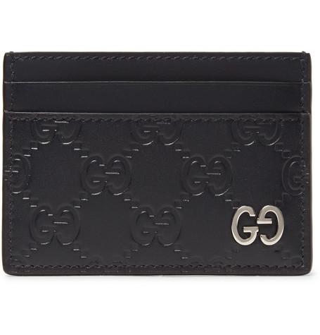 2f687f9465ca Gucci – Embossed Leather Cardholder – Men – Black | The Fashionisto